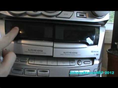 kenwood xd  stereo mini hifi component system youtube