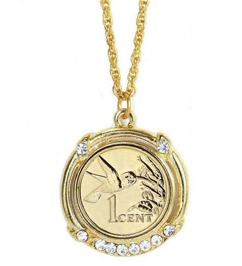 Packing 1 pcs necklace as show color: Gold-Layered Hummingbird Coin Necklace | Jewelry | Gifts ...