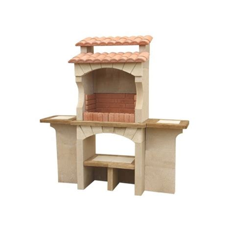 cuisine collectivité barbecue extérieur en traditionnel en brique