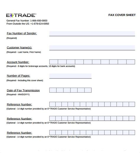 sample generic fax cover sheet  documents