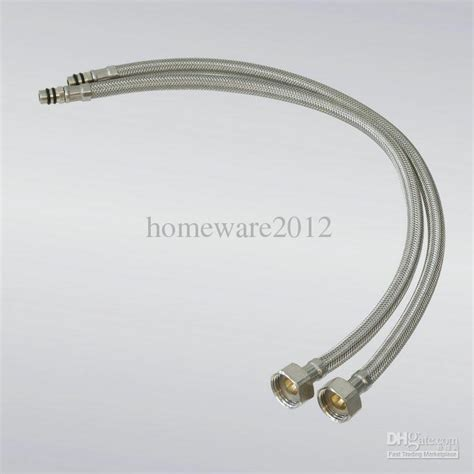 hose connection to kitchen sink 2018 2 xstainless steel 1 2 faucet water supply hose sink 7172