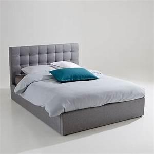 Ikea Lit 180x200 : lit coffre avec sommier relevable gennie gris la redoute interieurs la redoute ~ Teatrodelosmanantiales.com Idées de Décoration