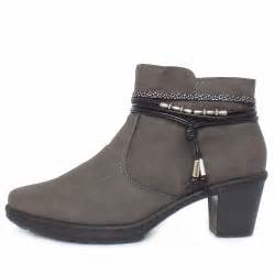 womens grey boots uk rieker thame 54953 45 39 s grey ankle boots lambswool lined