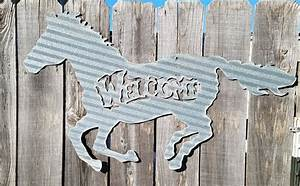 corrugated welcome running horse With corrugated metal letters wholesale
