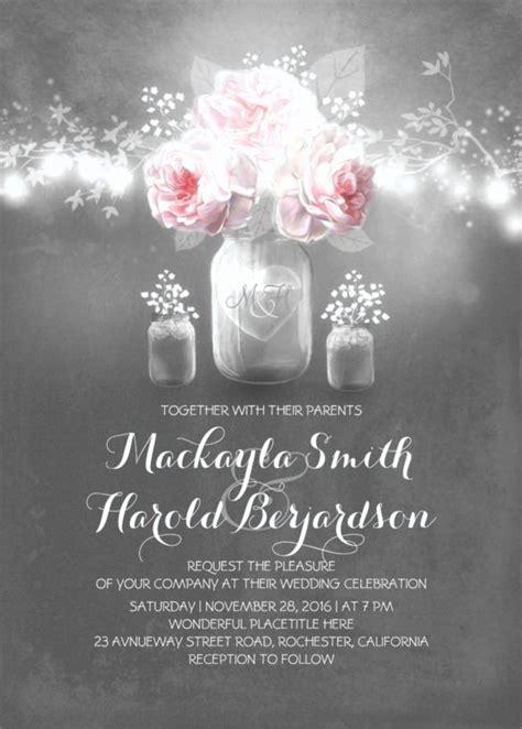 Mason Jar Wedding Invitation Template New 26 Chalkboard