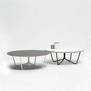 North coffee table by tim webber design for White coffee table with black legs