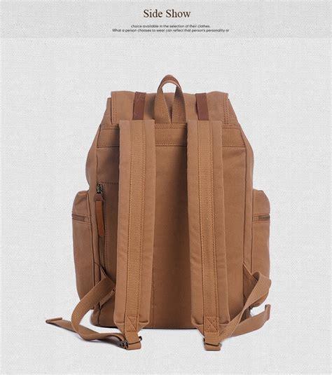 Tas Canvas Ransel augur tas ransel canvas school backpack coffee