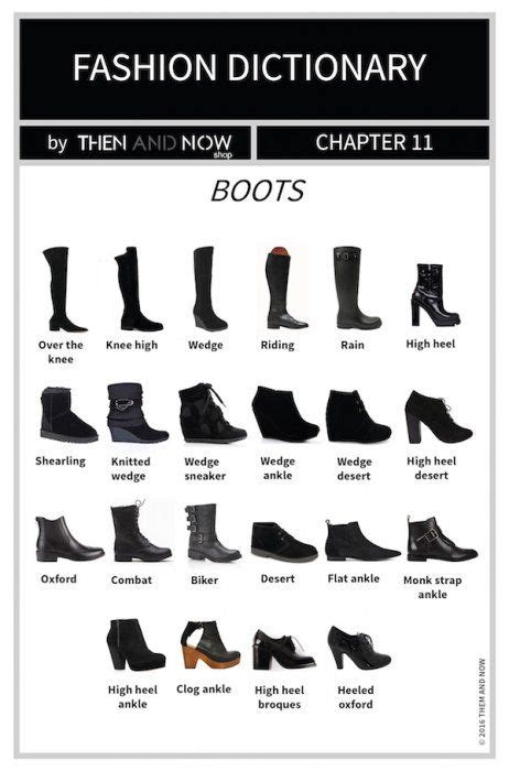 boots infographic types  boots shoes pinterest