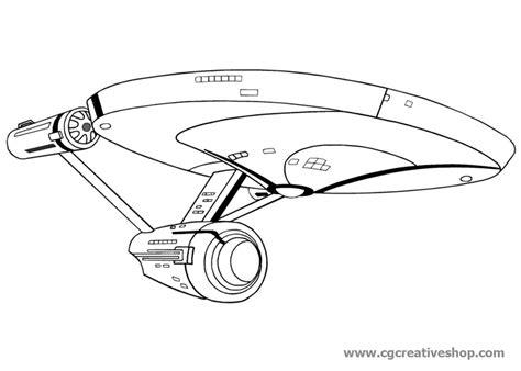 disegni da colorare e stare enterprise la nave spaziale di trek disegno da colorare