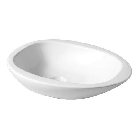 vasque a poser ceramique blanche vasque 224 poser blanche en forme de galet 111110