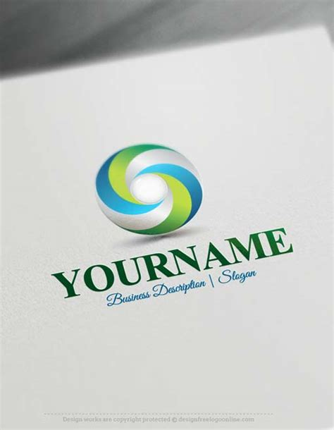 design a logo for free brand your business easily with 3d spiral logo template