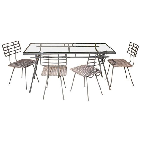 glass patio table and 4 chairs metal and glass outdoor dining table and four chairs at