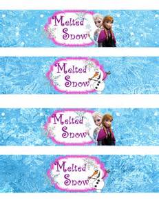 Winter Themed Baby Shower by Instant Download Frozen Water Bottle Wrappers By