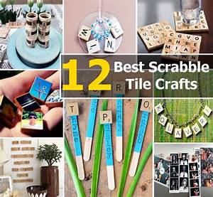 12 Of The Best Scrabble Tile Crafts DIY Home Things