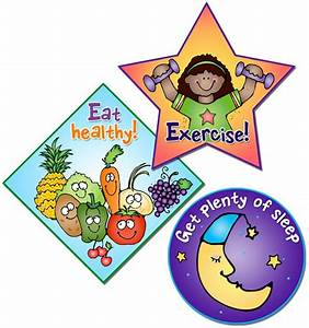 These stickers remind kids about good healthy habits. Made ...