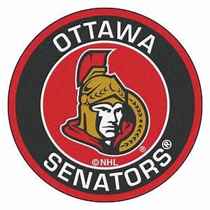 """Ottawa Senators Logo Roundel Mat - 27"""""""