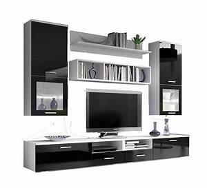 Meuble Blanc Pas Cher : meuble tv noir pas cher meuble tv d angle moderne ~ Dailycaller-alerts.com Idées de Décoration