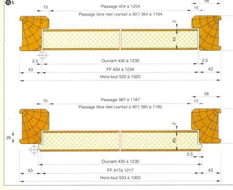 dimension cadre de porte standard installation thermique dimension standard porte isoplane