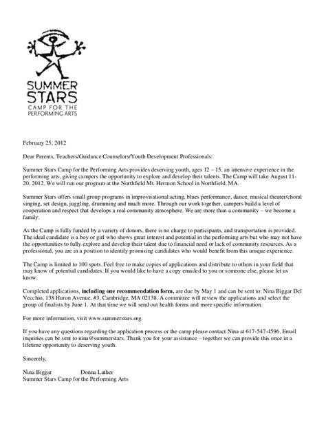 letter  parents teachers guidance counselors