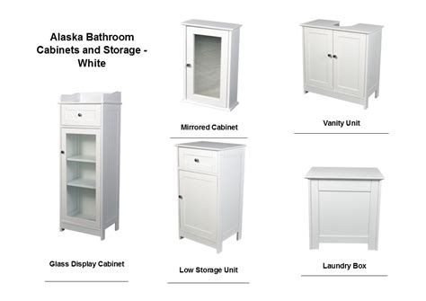 White Mirrored Bathroom Cabinets by Alaska White Bathroom Range Vanity Unit Mirrored