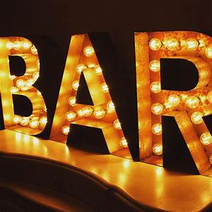 bespoke light up letters illuminated letters for With bar light up letters