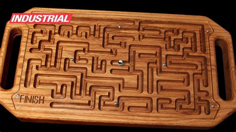 cnc project wooden game maze puzzle  steel ball