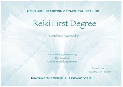 Reiki Level 1 Certificate Template by 17 Best Reiki Healing Therapist Images On