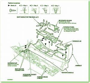 2001 Honda Accord Lx Center Console Panel Fuse Box Diagram