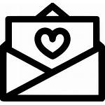 Letter Icon Open Svg Relationship Invitation Heart