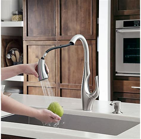 Stainless Steel Indira 1 Handle, Pull Down Kitchen Faucet