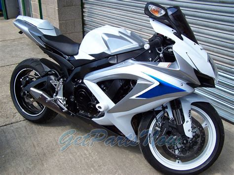 injection set blue white silver fairing fit  suzuki