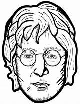 Coloring Colorare Personaggi John Disegni Lennon Famosi Printable Rock Star Pagine Storici Supercoloring Stilizzati Ritratti Onlinecoloringpages Famous Portrait sketch template
