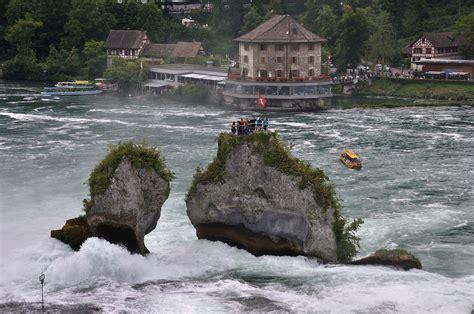 Boat Ride Rhine Falls Switzerland by Rhine Falls Schaffhausen S Town Guide