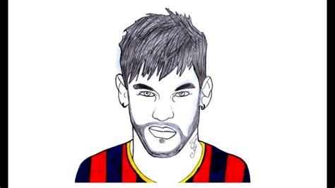 como desenhar  neymar junior jogador de futebol