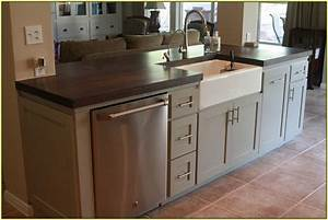 kitchen islands with sink - TjiHome
