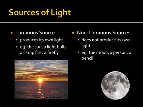 the light source 10 1 sources of light ppt