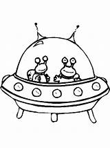 Spaceship Coloring Alien Drawing Cartoon Twin Space Aliens Pages Clipart Netart Ship Drawings Cliparts Clip Library Craft sketch template