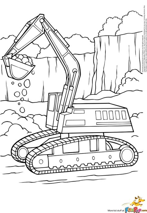 coloring websites coloring pages free printable excavator coloring page to
