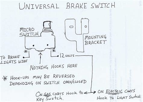 universal 12v brake switch everything carts