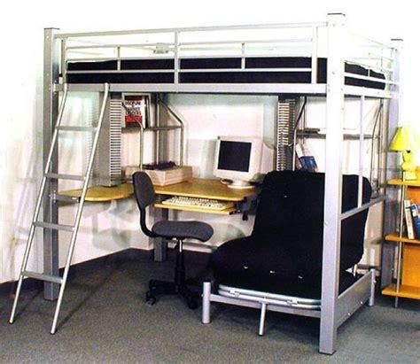 metal loft bed with desk under full loft bed with desk underneath abode full metal loft