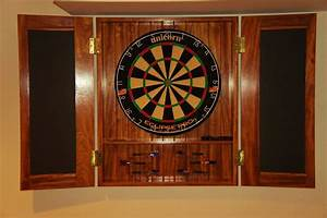 Hand Crafted Dart Board Cabinet by Bucks County