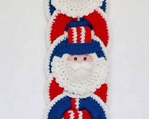 Christmas CROCHET PATTERN instant download - Santa Wall ...