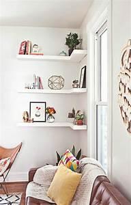 étagère Murale Salon : les tag res d angle en 41 photos pleines des id es ~ Farleysfitness.com Idées de Décoration