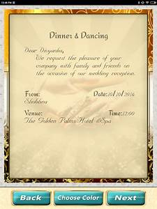 Wedding invitation cards maker marriage card app android for Wedding invitation card maker application