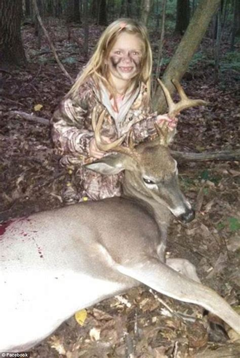 year  girl bags  point buck  replace trophy deer