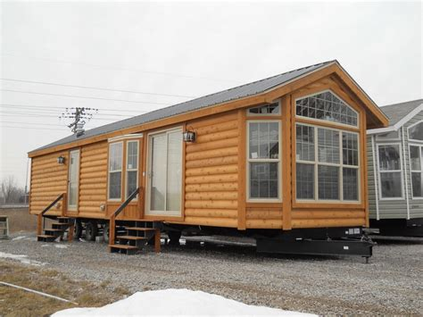 log cabin trailer homes log cabin park model living breckenridge cpgp