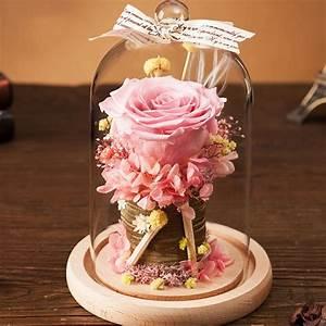 Rose In Glas : preserved rose in glass dome apollobox ~ Frokenaadalensverden.com Haus und Dekorationen