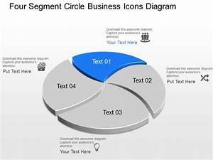 Xs Four Segment Circle Business Icons Diagram Powerpoint