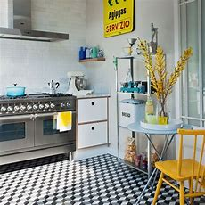 Industrialstyle Kitchen With Geometric Tiles  Kitchen