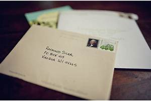 slower is better we love receiving mail ray kelly With po box wedding invitations